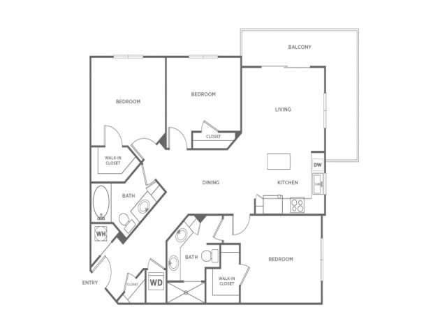 C1 | 3 bed 2 bath | from 1330 square feet