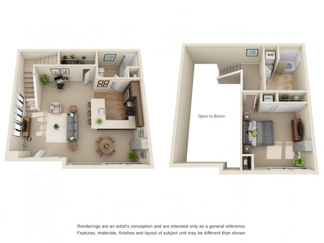 TH2R | 1 bed 1.5 bath | from 1,168 square feet
