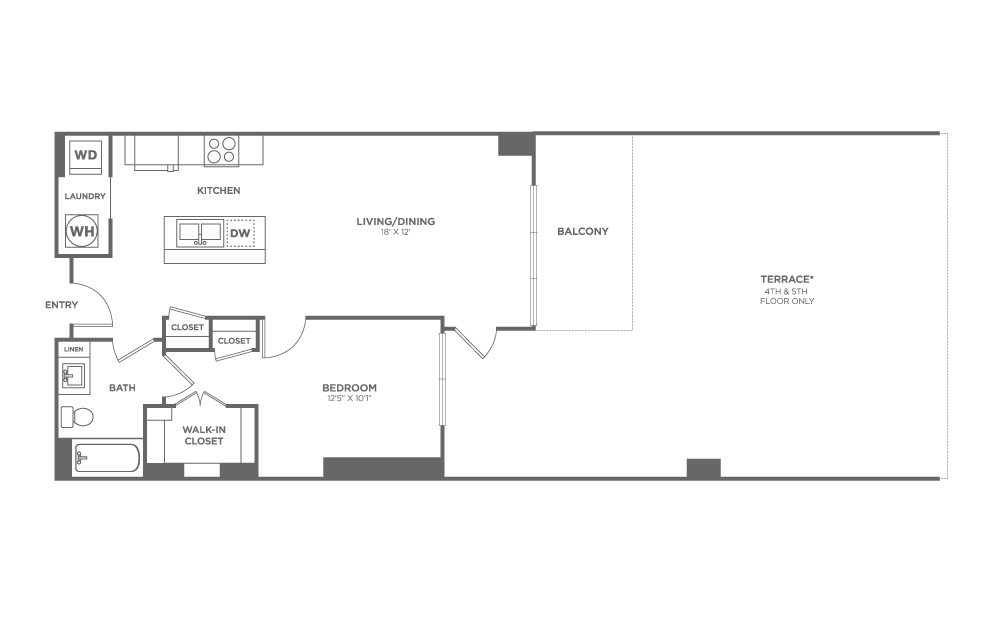 A8 | 1 bed 1 bath | from 720 square feet