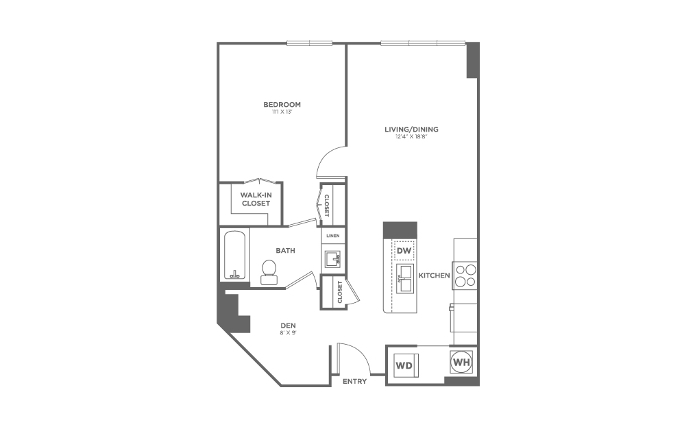 A14 | 1 bed 1 bath | from 799 square feet