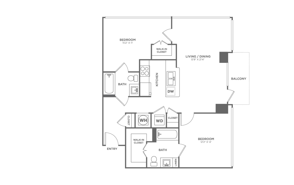 B5 | 2 bed 2 bath | from 964 square feet