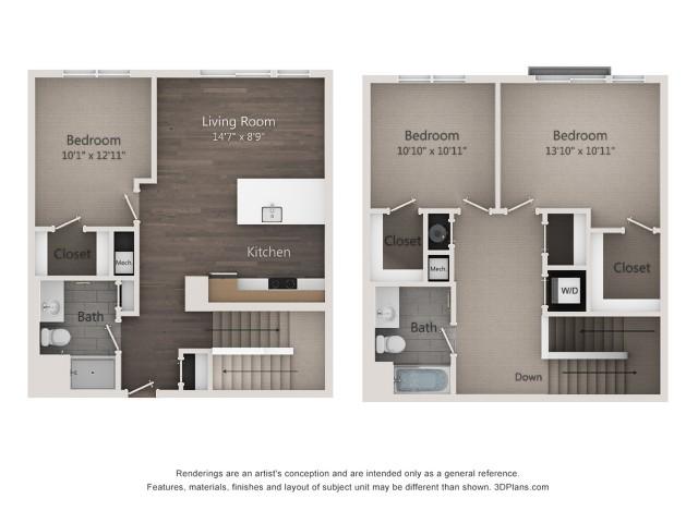 3BR-AG2 3 bedroom 2 bath