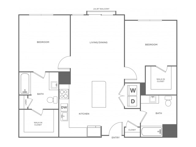 Magnolia West | 2 bed 2 bath | from 1100 square feet