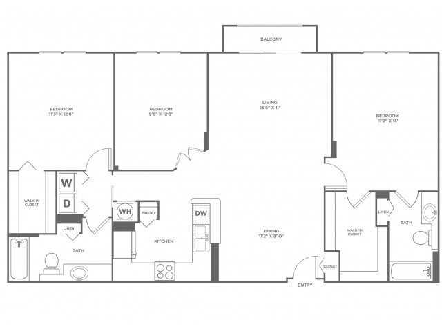 Tide - Diamond | 3 bed 2 bath | from 1429 square feet