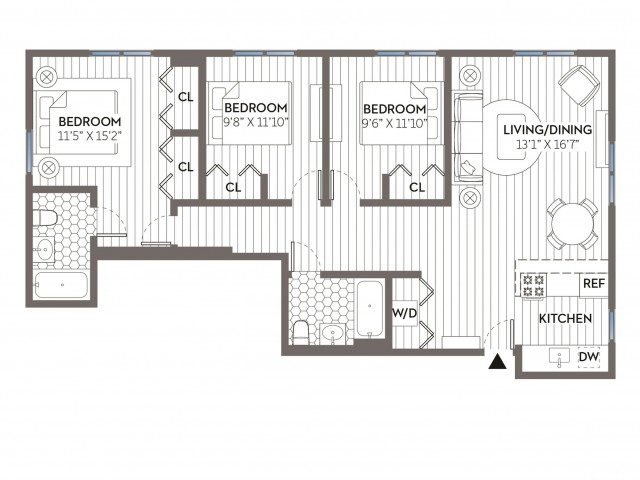 Maxwell | 3 bed 2 bath | from 1102 square feet