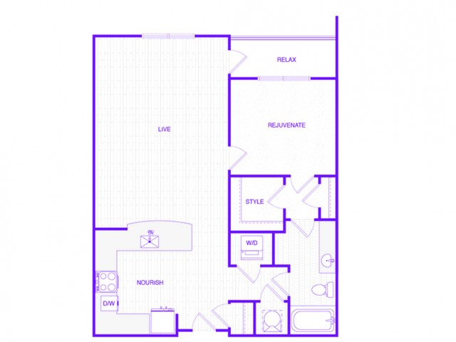 The Jennings | 1 bed  1 bath | 846 sq ft