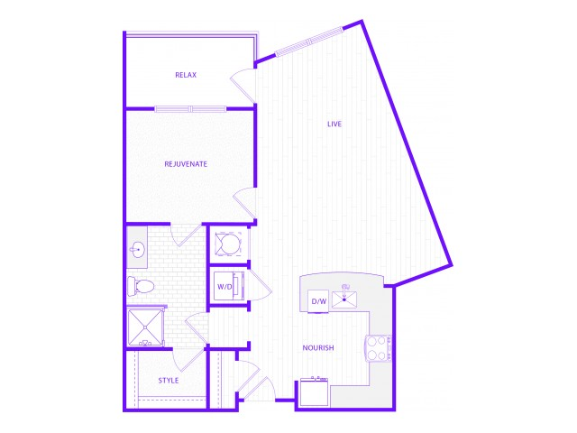 The Weir | 1 bed  1 bath | 857 sq ft