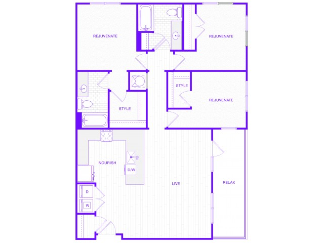 The Hartford | 3 bed  2 bath | 1543 sq ft