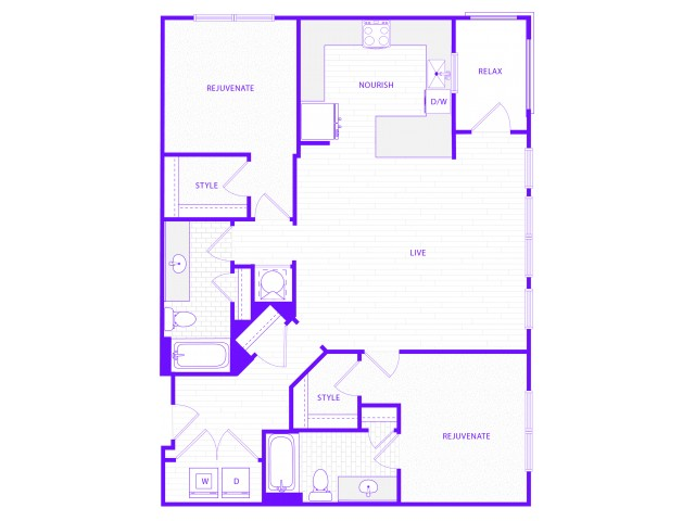 The Janis | 2 bed  2 bath | 1431 sq ft