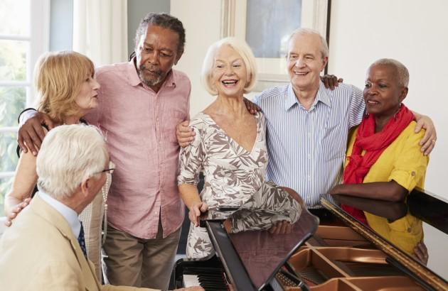 people around piano