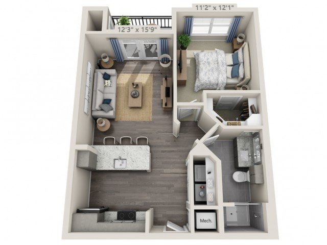 A1 1 Bed Apartment Overture Cotswold 55 Active Adult Apartment Homes