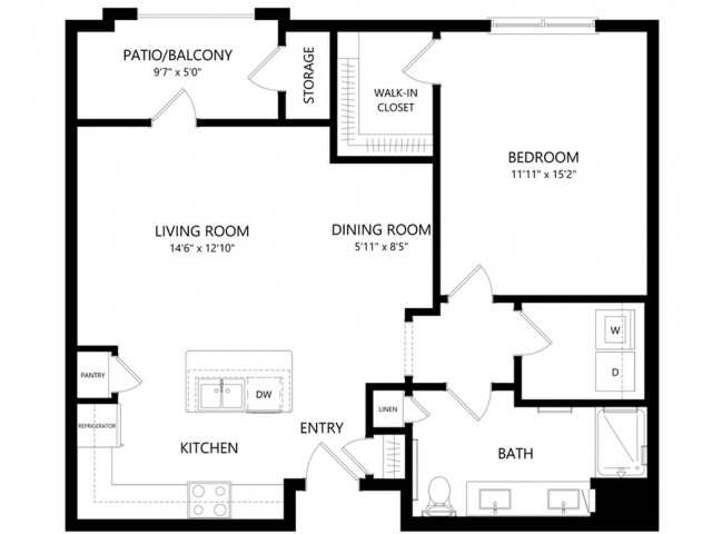 A2 | 1 bed 1 bath | from 850 square feet