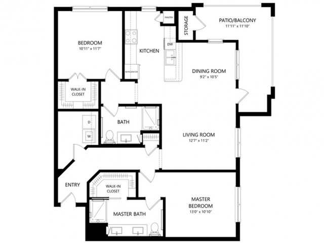 B2 | 2 bed 2 bath | from 1125 square feet