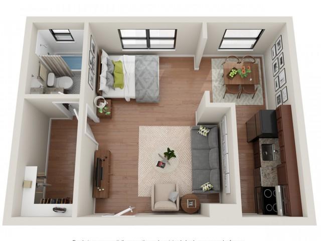 Studio Floor Plan | Apartments St Louis | Convent Gardens