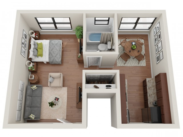 Studio Floor Plan   Apartments St Louis   Convent Gardens