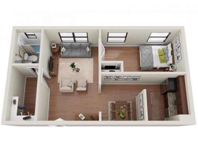 1 Bedroom Floor Plan   Apartments In St Louis   Convent Gardens