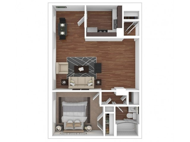 1 Bed, 1 Bath Plus