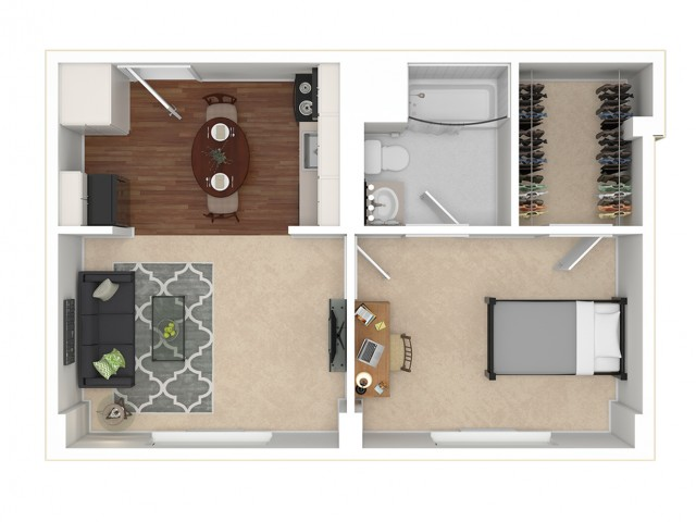 1 Bed 1 Bath Private 1 Bed Apartment Campus Towers