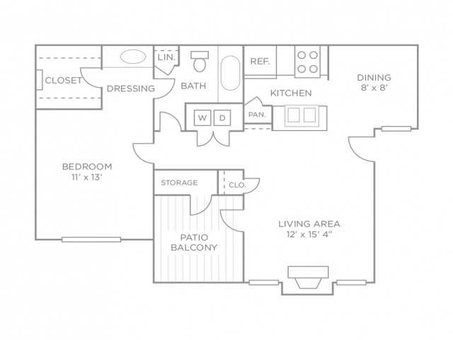 Enjoy a private patio/balcony in the one bedroom Premiere Terrace, or additional living space with a sunroom in the one bedroom Premiere.