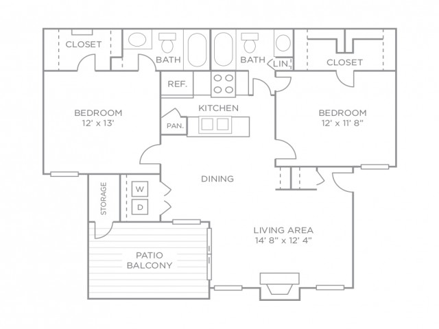 Two Bedroom Premiere Terrace-Renovated