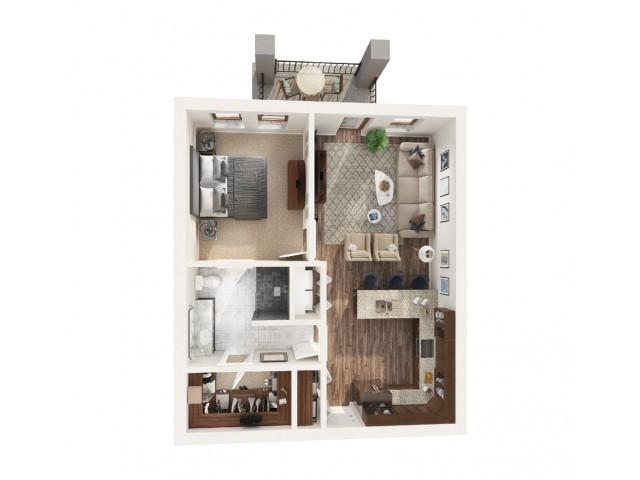 1 Bedroom Floor Plan | Apartments Odessa Tx | Advenir at Legado Ranch
