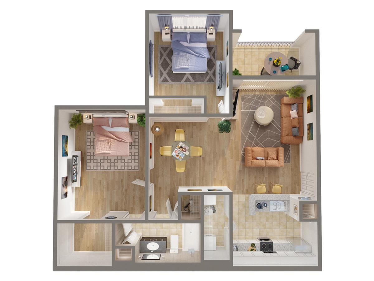 2 Bdrm Floor Plan | Luxury Apartments In Naples Florida | Advenir at Aventine