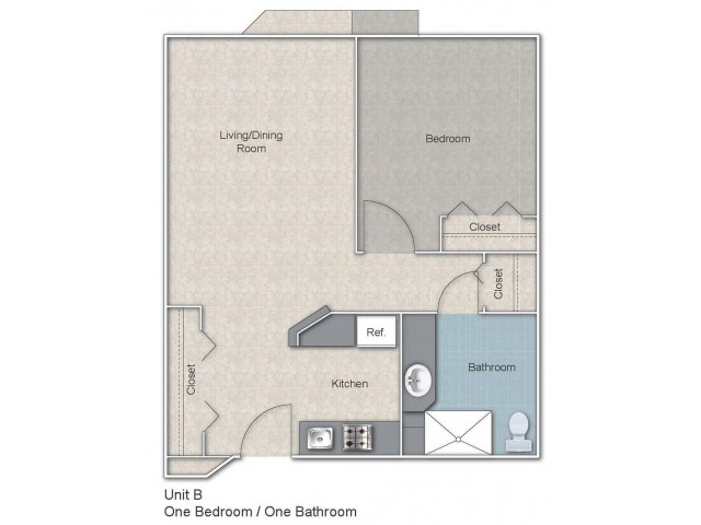 River Club - 1br/1ba (type b)