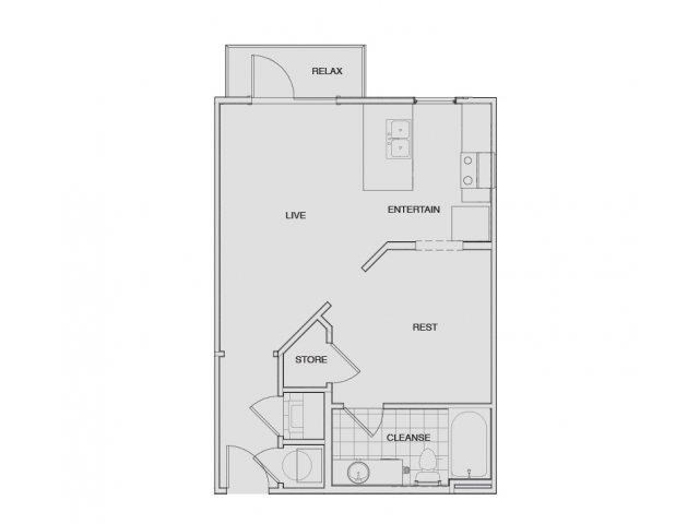 Floor Plan 1 | Apartments For Rent Nashville Tn | Note 16