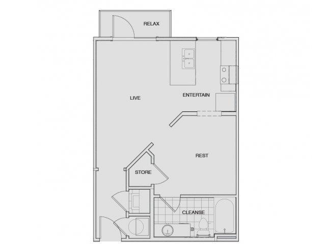 Floor Plan 2 | Two Bedroom Apartments Nashville | Note 16