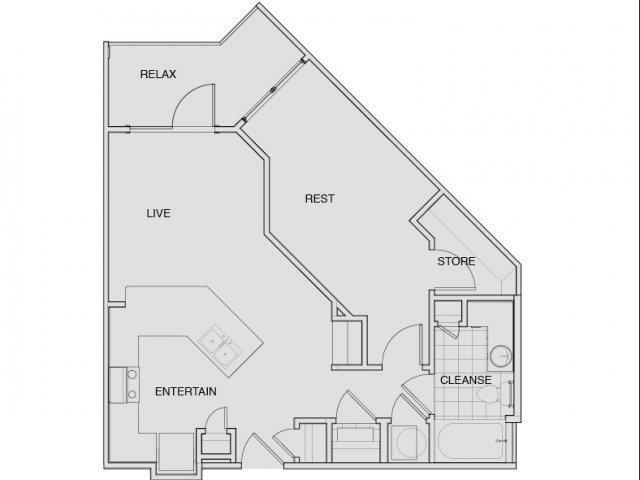 Floor Plan 4 | South Nashville Apartments | Note 16