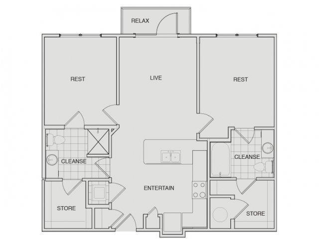 Floor Plan 6 | Apartments For Rent Nashville Tn | Note 16