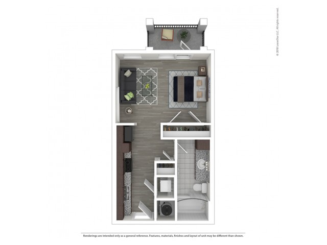 Studio Floor Plan   Nashville Apartments For Rent   Duet Apartments