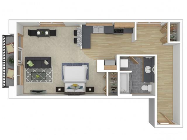 Large Studio Studio 700 Broadway Apartments