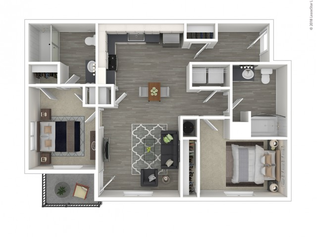 2 Bdrm Floor Plan   Apartments For Rent In Lacey Washington   The Marq on Martin