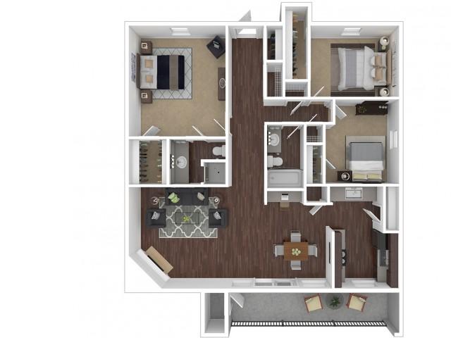 3 Bedroom Floor Plan | Apartments For Rent In Phoenix, AZ | Canyon Creek Village Apartments