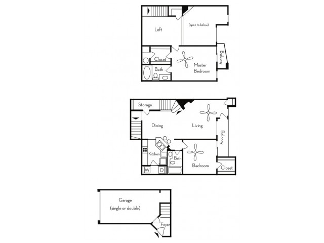2 Bedroom Floor Plan | Apartments For Rent In Phoenix, AZ | Pavilions on Central Apartments