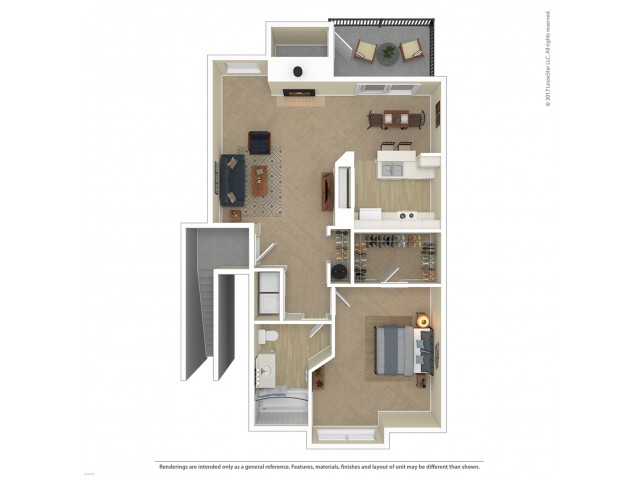 1 Bedroom Floor Plan | Apartments For Rent In Tacoma, WA | Beaumont Grand Apartment Homes