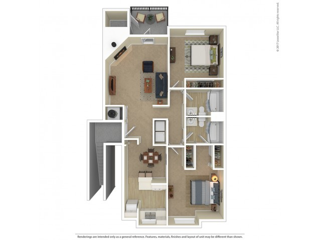2 Bedroom Floor Plan | Apartments For Rent In Tacoma, WA | Beaumont Grand Apartment Homes