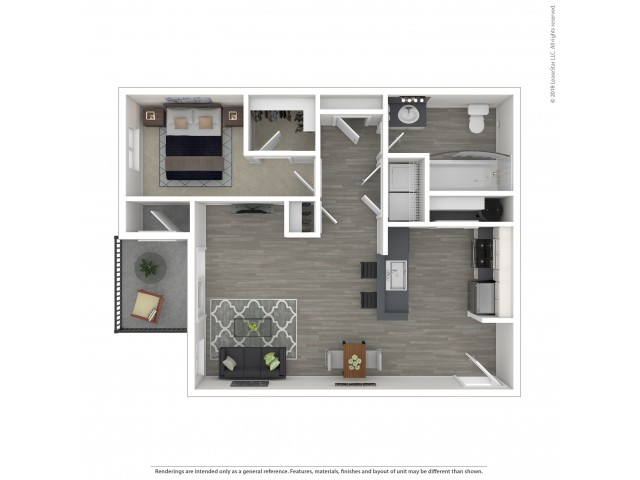 1 Bdrm Floor Plan   Apartments Lacey Wa   The Marq on Martin