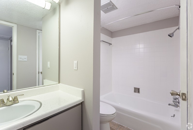 interior photo of newly remodeled bathroom