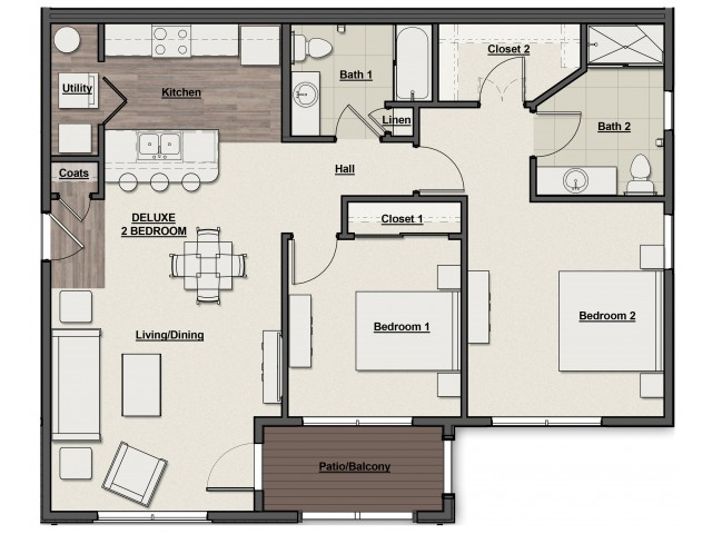Overlook Deluxe Floor Plan