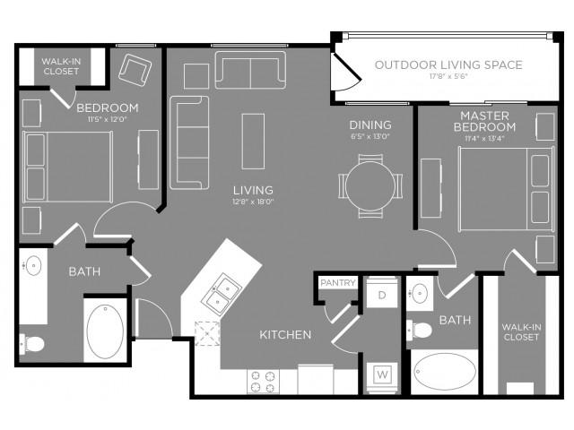 Floor Plan 3 | Apartments Aubrey TX | The Estates 3Eighty