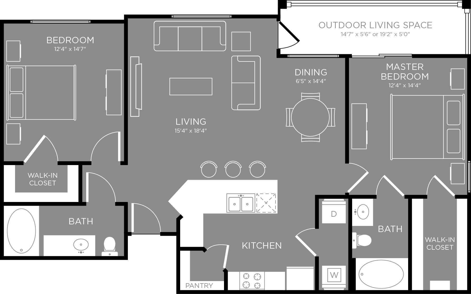 Floor Plan 4 | Apartments In Little Elm TX | The Estates 3Eighty