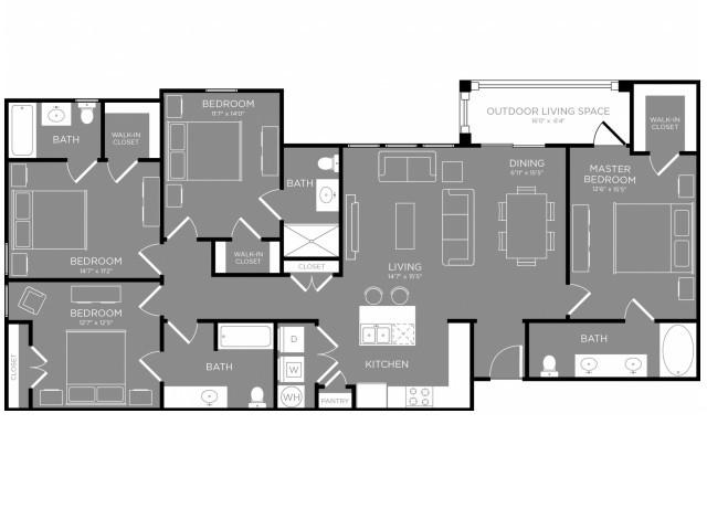 Floor Plan 6 | Luxury Apartments In Little Elm TX | The Estates 3Eighty
