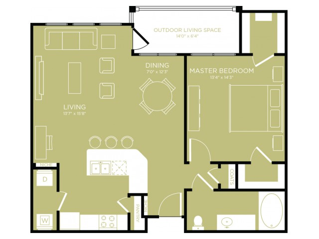 Floor Plan 7 | Apartments In Wylie | The Mansions at Wylie