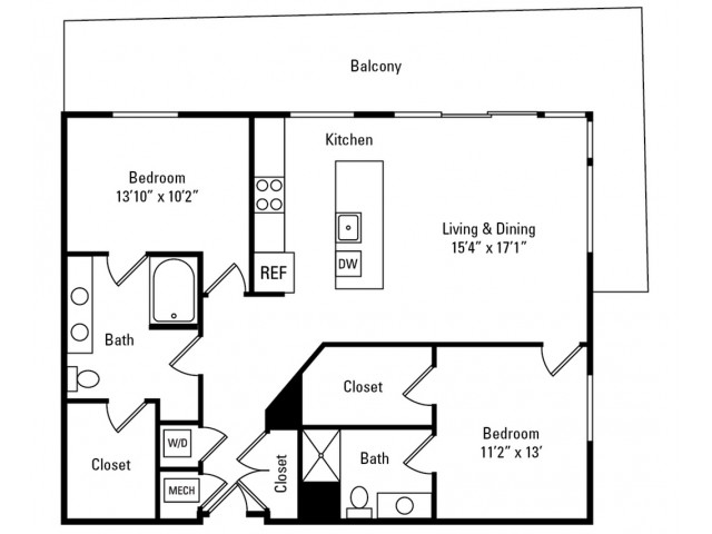 2 Bedroom - 2 Bathroom