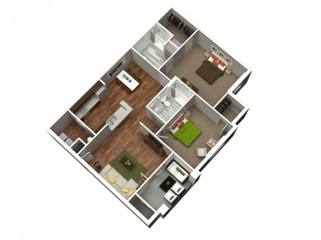 2 Bedroom 2 Bath 1105