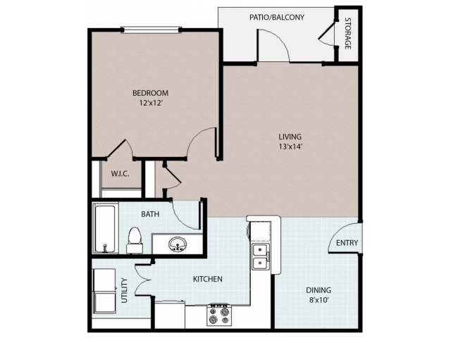 1 Bedroom/ 1 Bath