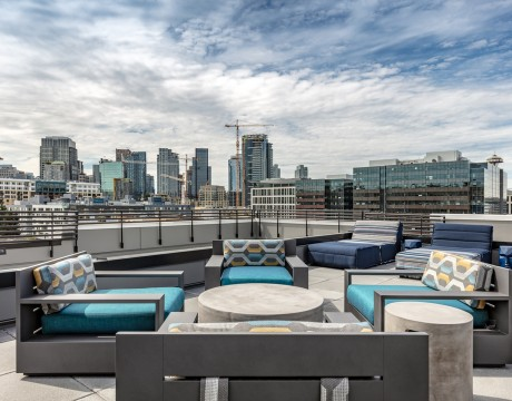 Rooftop patio at Chroma
