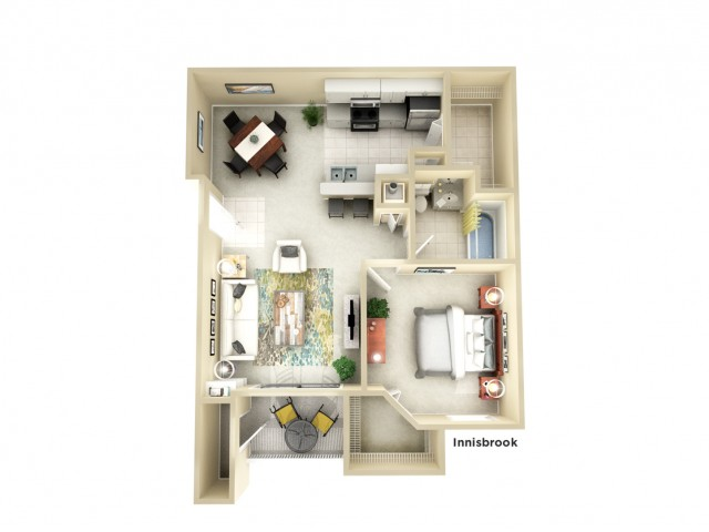 A2 | 1 bed 1 bath | from 790 square feet